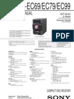HCD-EC69 EC79 EC99 Manual de Servicio