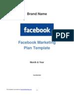 Facebook Marketing Plan Template