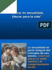 Educar en Sexualidad Educar Para La Vida