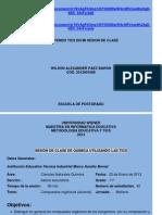 MI SESIÓN DE CLASE DE QUIMICA, UTILIZANDO LAS TICS.