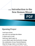 Introduction to the Roman Missal 2011