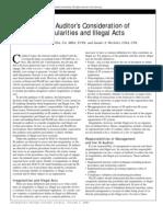 The IS Auditor's Consideration of Irregularities