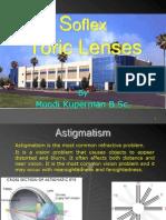 Soflex toric lenses