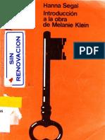 Introduccion a La Obra de Melanie Klein (Hanna Segal)