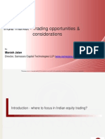 Trading opportunities & considerations in Indian market - Part I