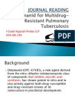 delamanid for MDR TB (journal reading)