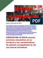 Noticias Uruguayas Martes 29 de Enero Del 2013