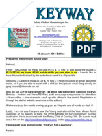 The Keyway - Rotary Club of Queanbeyan - Weekly newsletter - 30 Jan 2013 edition