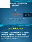 Sources in Air Pollution in Quetta