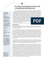 Comparison of mineral content of traditional and herbal teas
