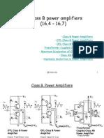 Class B power amplifiers