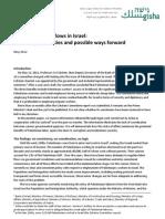 Palestinian labor flows in Israel