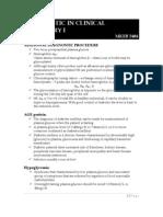 Additional Diagnostic Procedure in Glucose