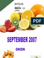 The Calendar of Recipes