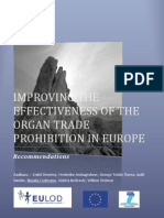 IMPROVING THE EFFECTIVENESS OF THE ORGAN TRADE PROHIBITION IN EUROPE
