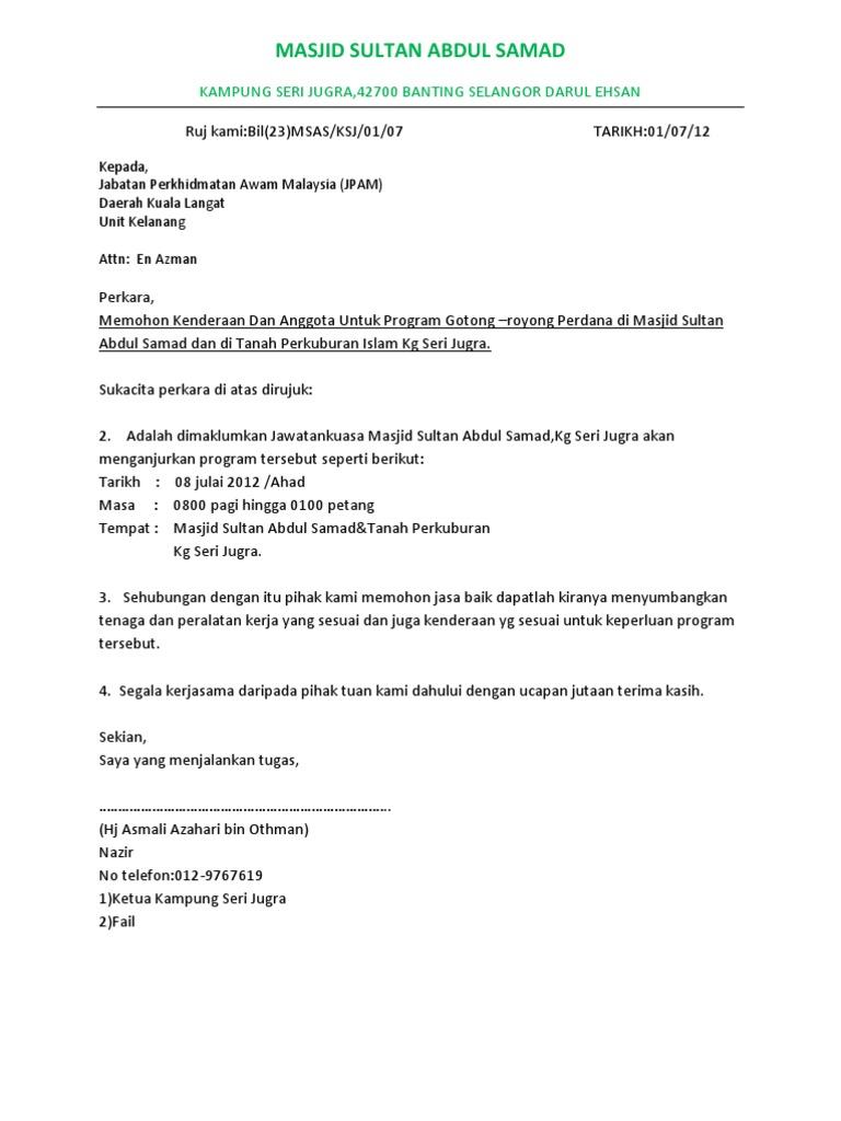 surat rasmi jpam
