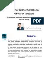 Agregando Valor en Refinacion de Petroleo en Venezuela 151112