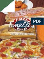 Tonelli's Menu