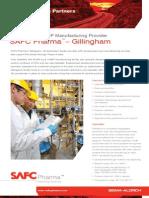 SAFC Pharma - Gillingham Facility - Experienced cGMP Manufacturing Provider