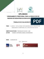 """TRABAJO  FINAL - """"LOGROS Y DIFICULTADES PARA DESARROLLAR EL PROYECTO DEORDENAMIENTO TERRITORIAL EN LA PROVINCIA DE YAUYOS """"- .pdf"""