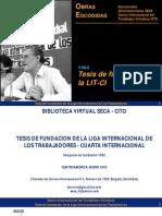 Tesis de fundación de la LIT CI