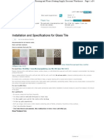Glass Tile Specifications