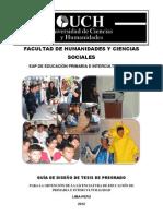 GUÍA DE DISEÑO DE TESIS  IAP EDUCACIÓN PRIMARIA E INTERCULTURALIDAD 2