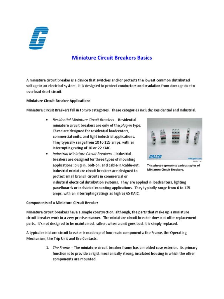 Miniature Circuit Breakers Big Responsibility Switch Electrical Bad Breaker Engineering