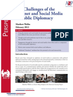 The Challenges of the Internet and Social Media in Public Diplomacy