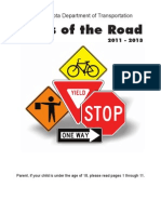 North Dakota - Rules of the Road - Drivers Manual 2013