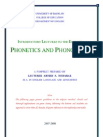 Introductory Lectures to the English Phonetics and Phonology