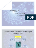 Alternative Energy Investing Thesis