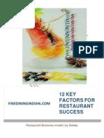 MAKE YOUR RESTAURANTS SUCCESS STORY FOLLOW 12 KEY FACTORS