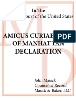 U.S. Supreme Court Amicus Curiae Brief from Manhattan Declaration to Protect Religious Freedom Under DOMA
