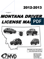 Montana - Driver License Manual - 2013.