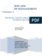 six sigma banking sector