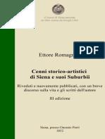Ettore Romagnoli - Cenni storico-artistici di Siena e suoi Suburbii (1852)