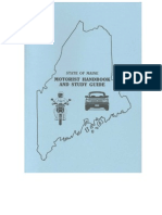 Maine - Motorist Handbook-and-Study Guide. 2013