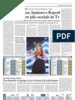 Il Giornale - X Factor, Santoro e Report gli show più «social» in Tv