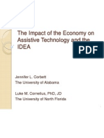 the impact of the economy on assistive technology weebly