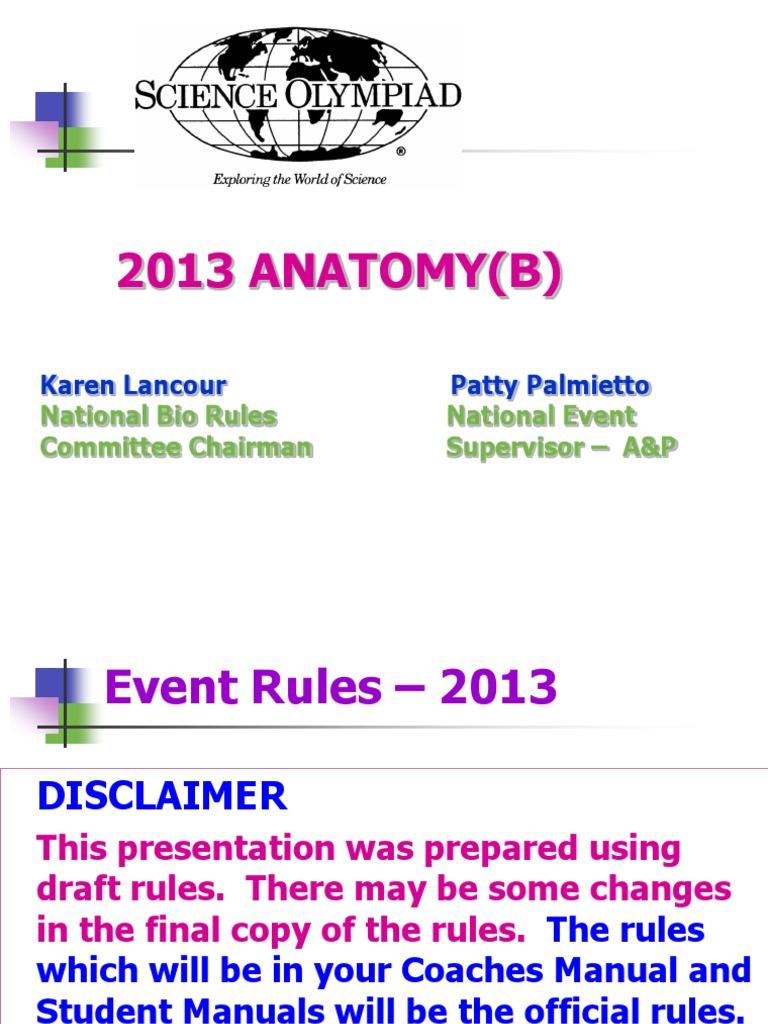 Science Olympiad: Anatanmy 2013_Div B | Digestion | Human Digestive ...