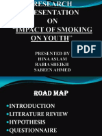 research presentation on smoking