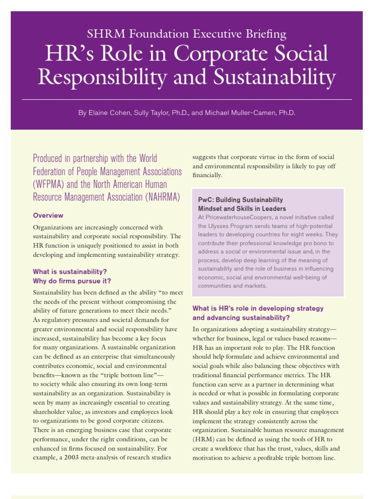 hrm   Human Resource Management   Corporate Social