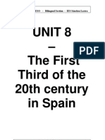 UNIT 8 the First Third of the 20th Century in Spain
