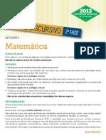 Prova de Matemática Soluções UERJ 2012