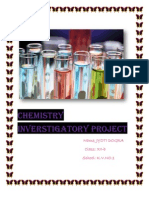 chemistry investigatory project on the topic