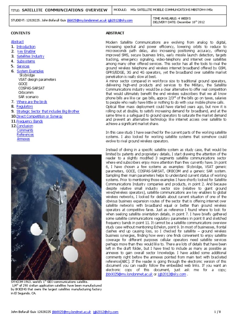 Satellite Communications Overview College Assignment Lna Design Tutorial 4 Balanced Amplifier Rf Hq Telecommunication