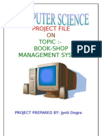 computer science project file for class XII CBSE