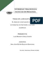 el area de investigacion y sus actores-as. entre poder y cultura académica (tesis de licenciatura)