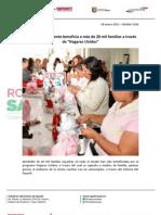 28-01-13 Boletin 1242 Gobierno de la Gente beneficia a más de 20 mil familias a través de Hogares Unidos